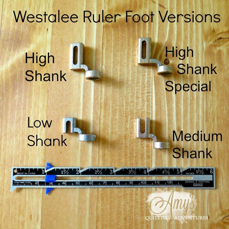 Got to have a ruler foot for using rulers with your free motion quilting! This foot fits nearly ...