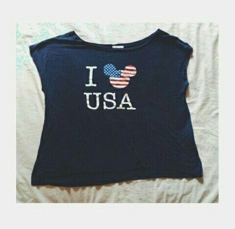 T-shirt di subdued con disegno USA