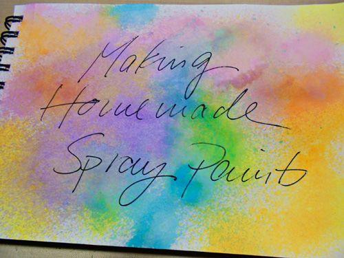 'Art Journal Every Day: Make Your Own Spray Ink...!' (via Balzer Designs)