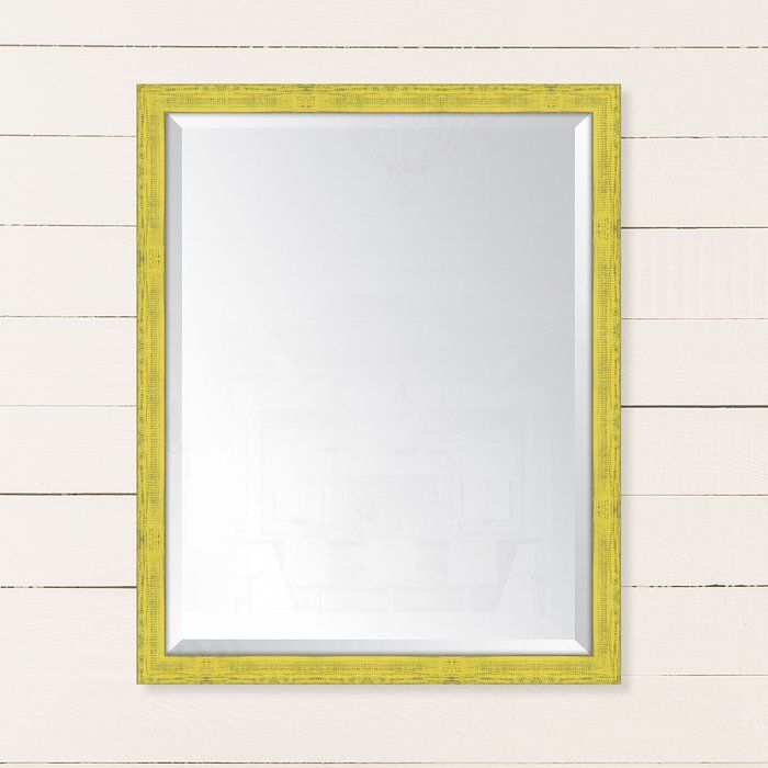 Yellow mirror for above dresser