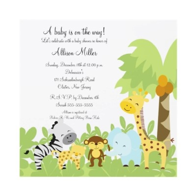 itu0027s a jungle baby animails baby shower invitation