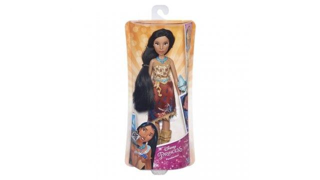 Disney Princess Royal Shimmer Pop Pocahontas 27cm  Moedig je kleine dromer aan om fascinerende verhalen te spelen met prinses Pocahontas. Ze kan erop los fantaseren met haar favoriete personages en zich laten inspireren om haar eigen sprookje te creÃren. Pocahontasdraagt de klassieke jurk die je kent uit de Disney film maar dan met een moderne twist: op de rok van Royal ShimmerPocahontas zit een mooie print met glitters. Speel het verhaal van Pocahontas na of ga op een nieuw avontuur…