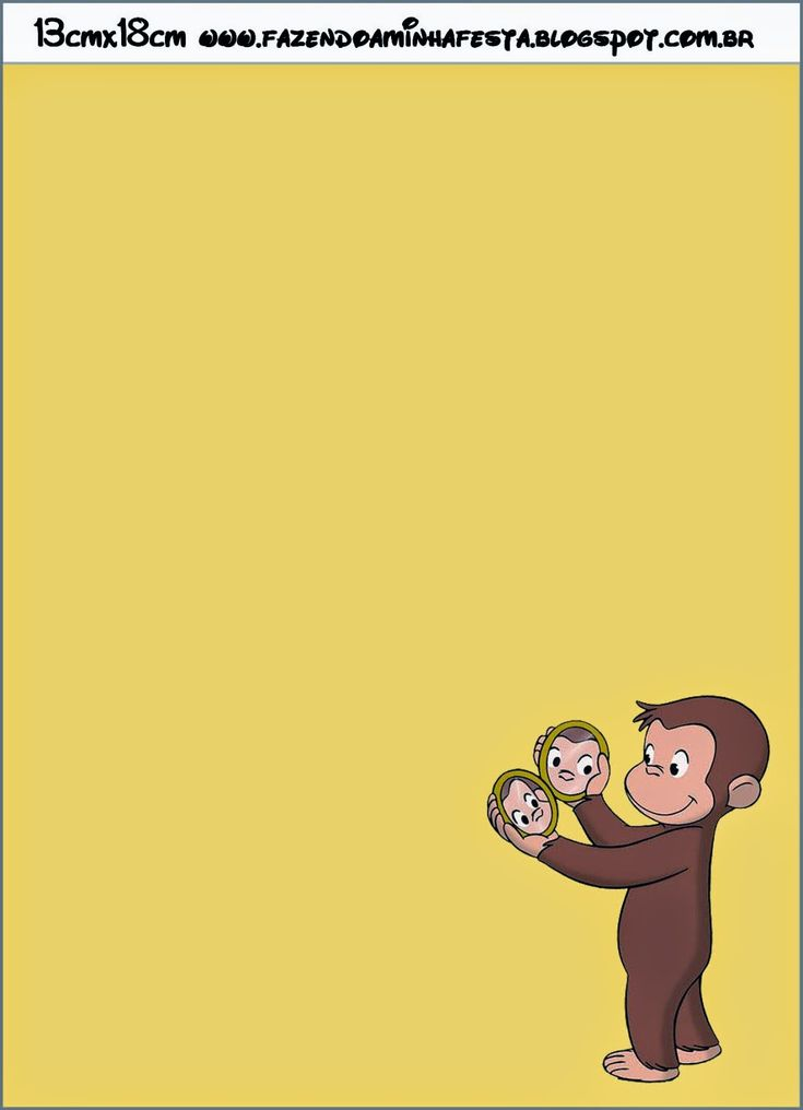 Curious George Free Printable Invitations.