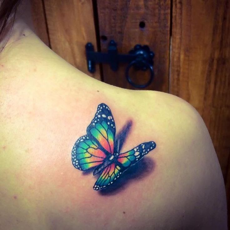25+ Best Ideas About Colorful Butterfly Tattoo On