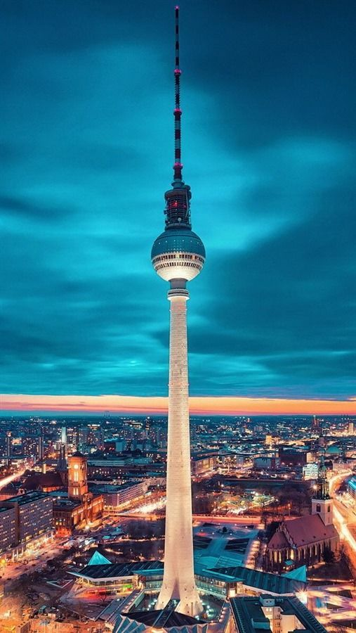 Stunning Berlin Fernsehturm #Germany. #Travel #Europe Repinned by http://www.iconiceurope.com/