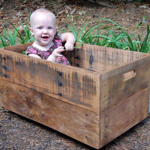 Looney Bin Crate from Reclaimed Wood on Etsy, $76.72 AUD