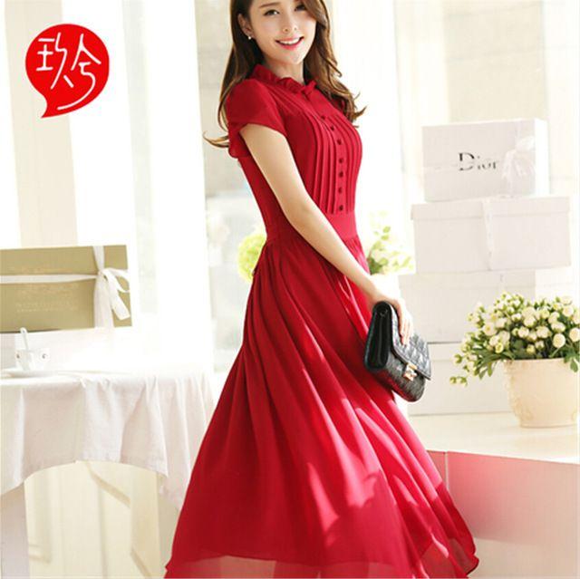 2016 Новый Летняя Мода Женщины Повседневная Плюс Размер Шифон С Коротким рукавом Длинные Белые Платья Платья
