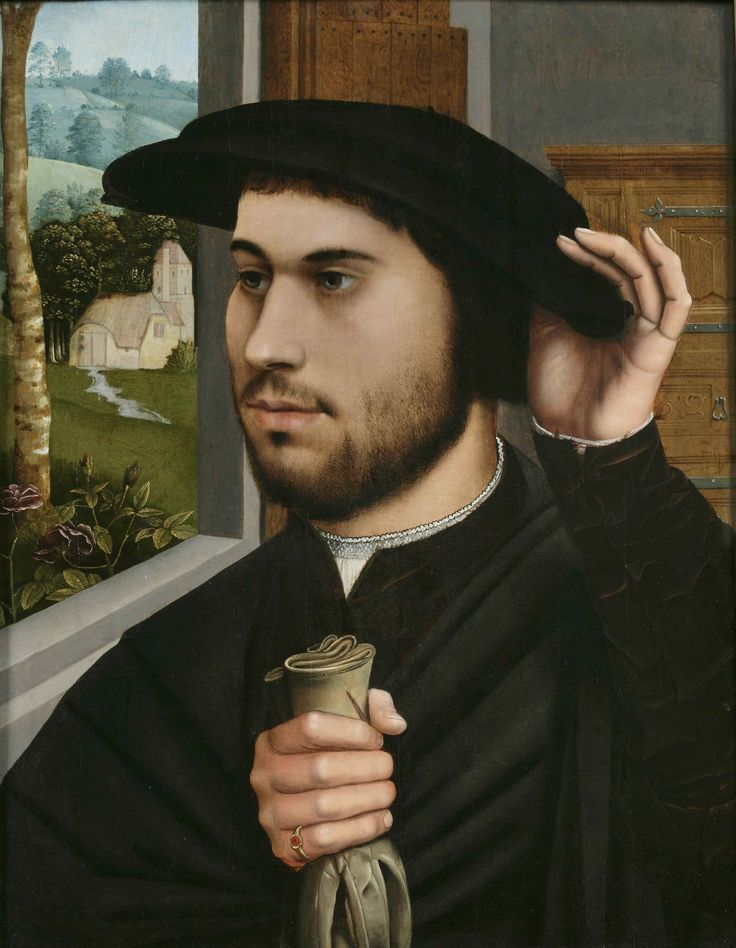 Ambrosius Benson, Portrait of a Man, c. 1530. Huile sur bois. Private Collection.