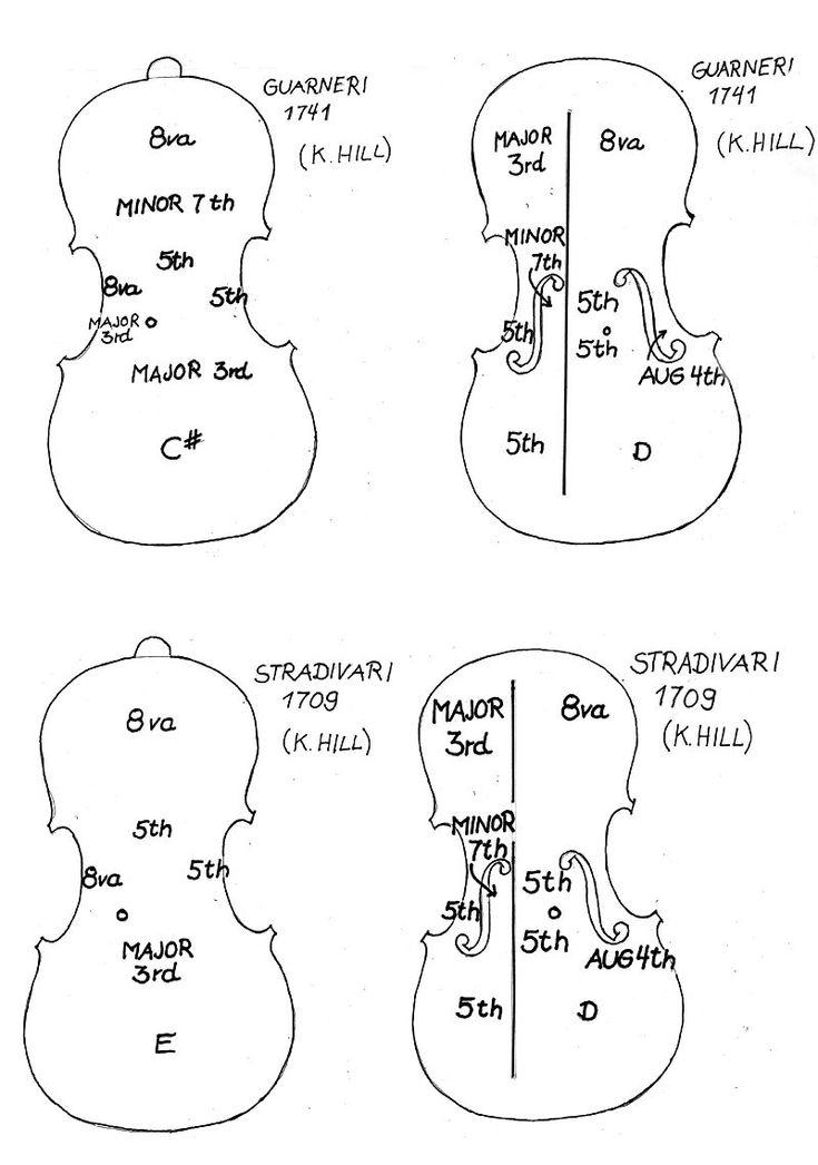 Esquema Stradivarius y Guarnerius