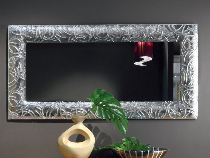 Espejo rectangular de pared con marco colecci n elettra for Espejo rectangular pared