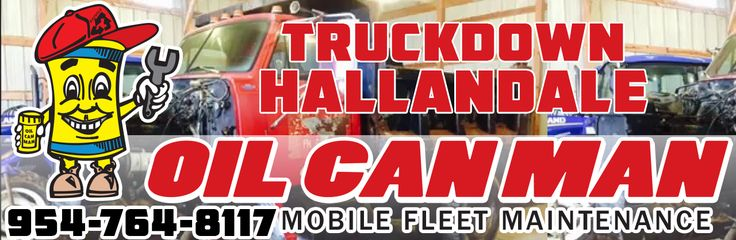 954-764-8117 Hallandale Truckdown via Utility Towing and Curbside. Call Dispatch at Oil Can Man Today.  http://oilcanman.com/truckdown-hallandale/  #TruckdownHallandale #HallandaleTruckdown   Oil Can Man 954-764-8117 730 NW 7th St Fort Lauderdale, FL 33311 Repairs@OilCanMan.com www.OilCanMan.com