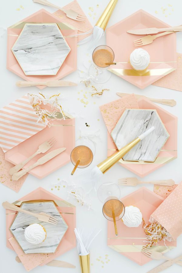 Blush and marble party!