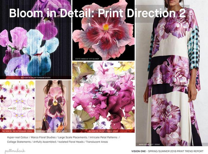 Vision 1: Spring/Summer 2018 Print Trend Report - Bloom in Detail