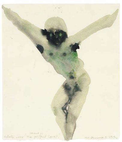 Jesus - Sketch for The Perfect Lover by Marlene Dumas - 1984