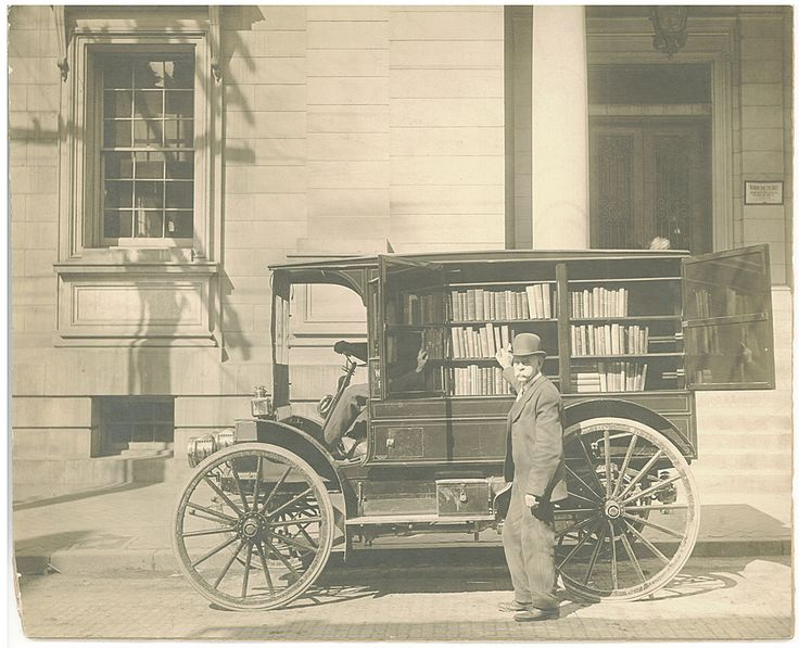 Could historic, affluent Marietta have once had its own Bookmobile?  (image from Western Maryland Historical Library)
