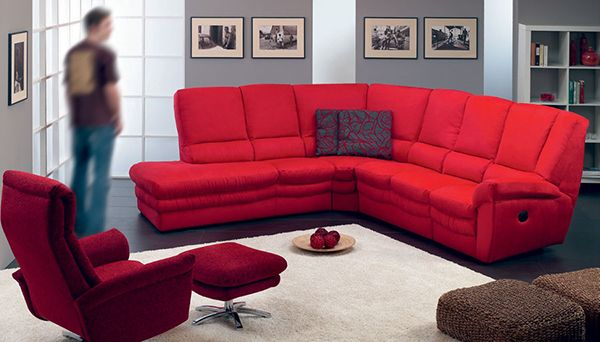 赤いソファー3
