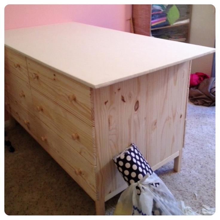 Cutting Table Made With Ikea Dressers Ikea Hacks