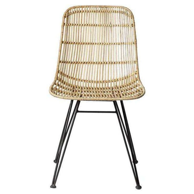 chaise salle manger chaise darling en rotin et mtal noir naturel