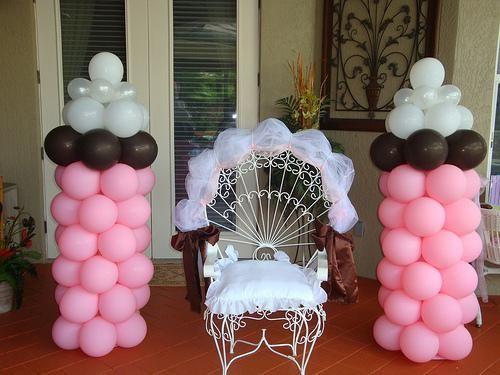Baby Shower Chair Balloon Decor