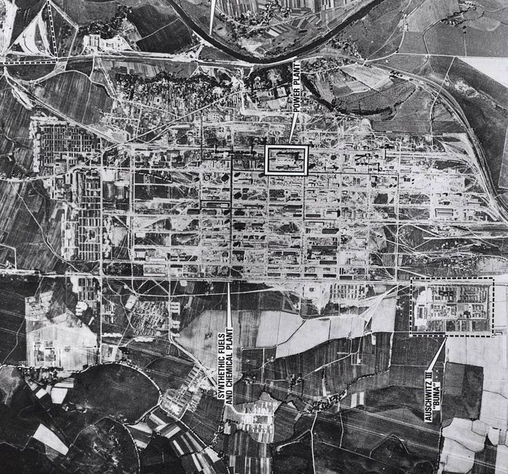 On 26 June 1944 the Allied air reconnaissance took pictures in which Auschwitz III-Monowitz camp was visible next to the IG Farbenindustrie chemical plant construction site.  Initially it was one of Auschwitz sub-camps created in October 1942 on the area of the expelled and demolished Polish village of Monowice (German: Monowitz) 6 km from Auschwitz I in connection with the construction by a German company  IG Farbenindustrie conglomerate  of the Buna-Werke synthetic rubber and fuel plant…
