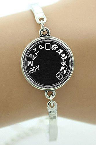PFBRACELETA Camera Mode Silver Bracelet Photographer Jewelry