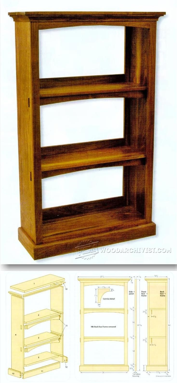 Best 20 bookcase plans ideas on pinterest for Building a bookcase for beginners