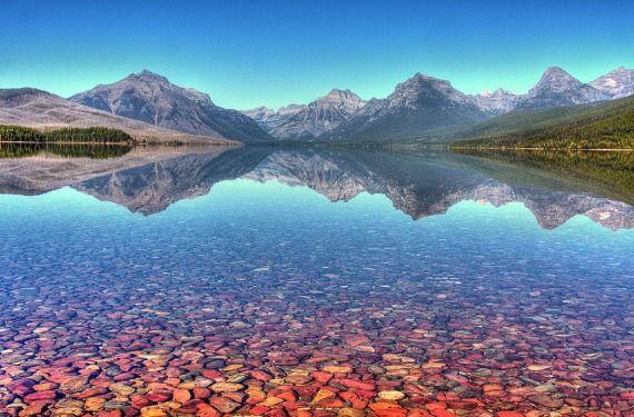 El lago Mcdonald en Estados Unidos