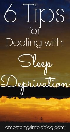 6 tips for dealing with sleep deprivation! Tricks to use on a daily basis to help you power through your day and still remain productive, even on lack of sleep.