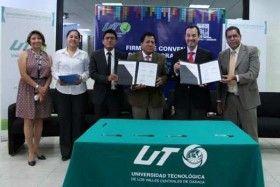 Signan convenio de colaboración UTVCO e INEGI
