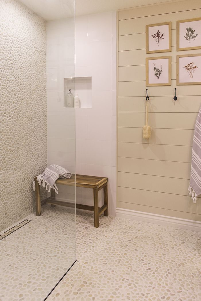 Great Shower in Master Bath  Our Current Home | Jenna Sue Design Blog