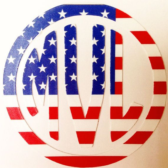 American Flag Monogram Decal by MagicalMonograms on Etsy, $6.00