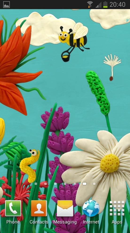 New Live Wallpaper Made Of Plasticine