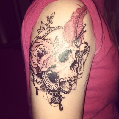 20 best tattoos for women arm images on pinterest for Female skull tattoos