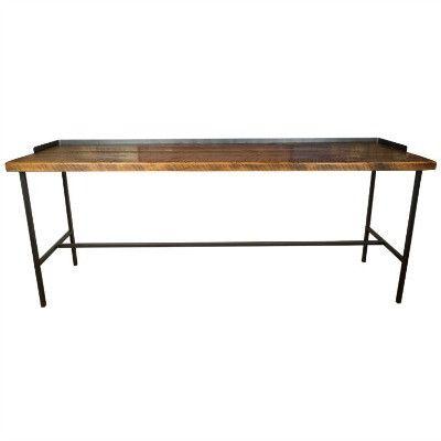 Farmhouse Industrial Console Table - Bar