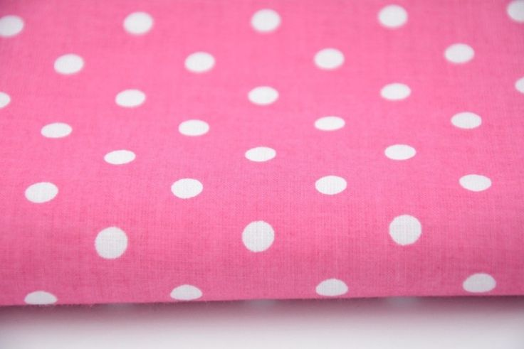 11. White polka dots on fuchsia pink