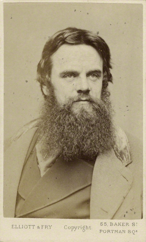 William Holman Hunt, 1865, by Elliott and Fry. Albumen carte-de-visite. National Portrait Gallery. Given by Phyllis Cunnington, 1962