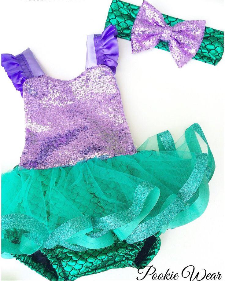 Little mermaid costume, Little Mermaid dress, mermaid costume, mermaid dress, little mermaid birthday outfit, mermaid baby outfit, by PookieWear on Etsy https://www.etsy.com/listing/276458540/little-mermaid-costume-little-mermaid