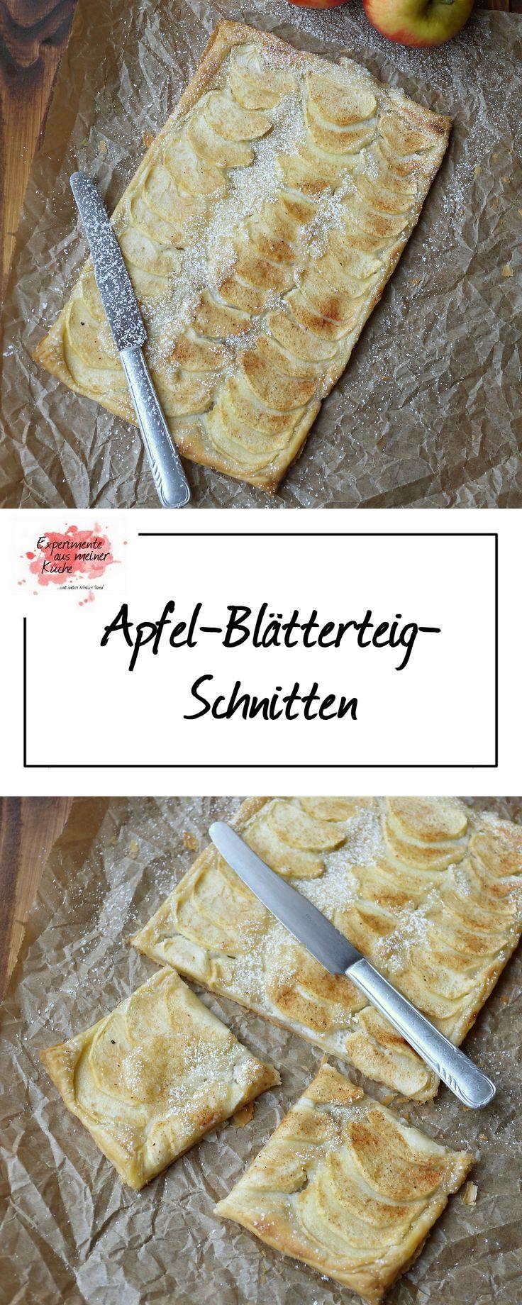 Apfel-Blätterteig-Schnitten | Kuchen | Backen | Schnell
