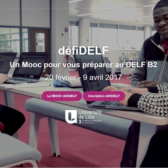 """Préparez-vous au DELF B2 avec un MOOC   Préparez-vous au DELF B2 avec un MOOC    Cliquez sur l'image pour vous inscrire  via Instagram http://ift.tt/2jgEQNj  Abréviation de Massive Open Online Course - """"cours ouvert en ligne et massif"""".  A la une Civili DELF/DALF Langue"""