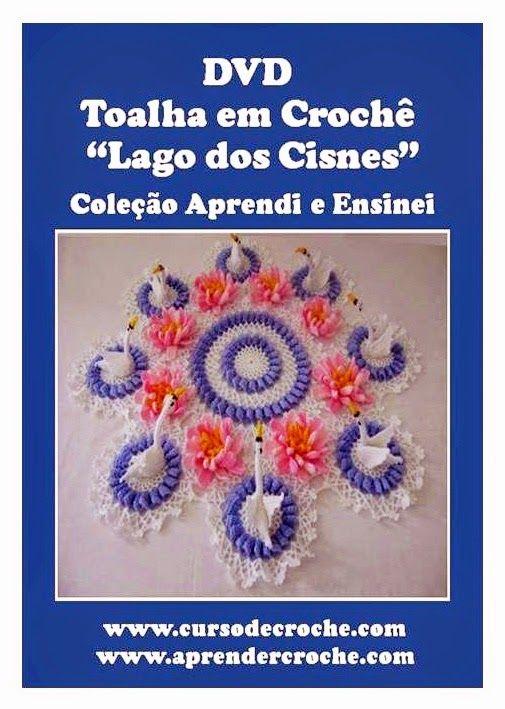 dvd toalha em croche lago dos cisnes com edinir-croche em aprender croche com frete gratis na loja curso de croche