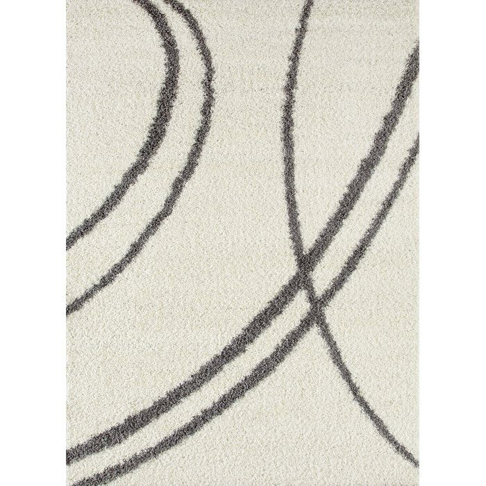 Caressa Line Cream Area Rug World Rug Gallery Cozy Shag Rug Area Rugs