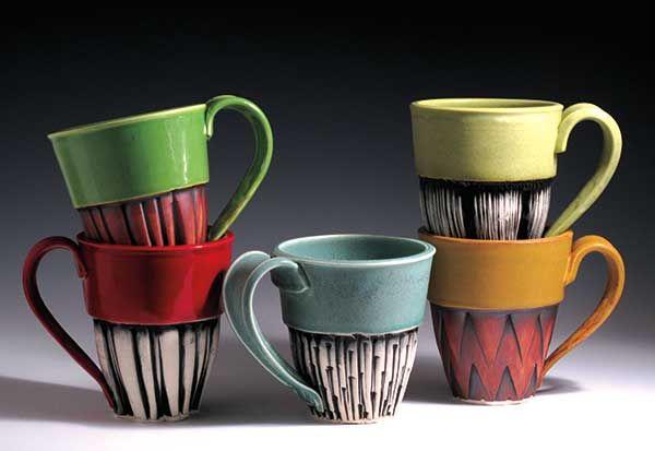 'Clique Mugs' by Ed and Kate Coleman. #ceramics #MadeinAmerica