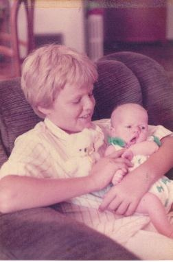 Christopher with baby sister Claire Elizabeth