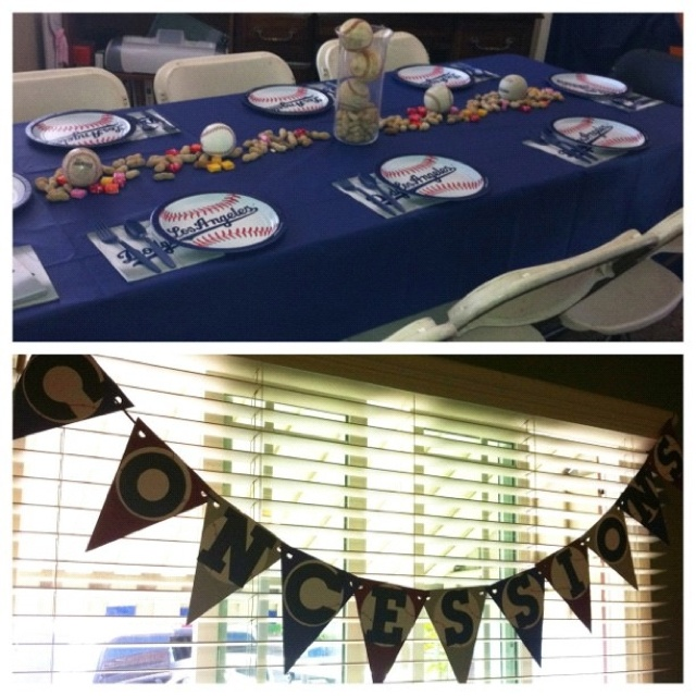 Baseball Themed Baby Shower Used Peanuts And Starburst Through The Center Of Table