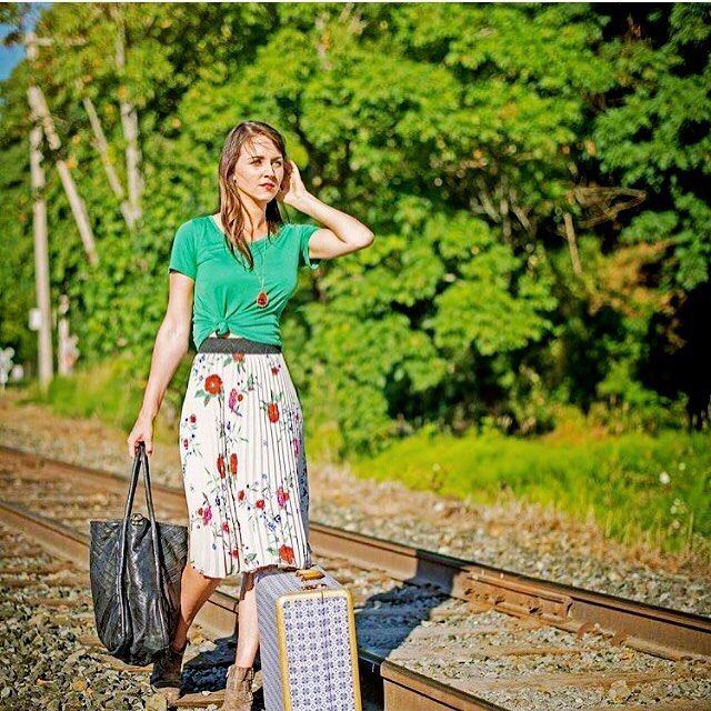 The Jill skirt is fashion forward, light weight, and comfortable! Perfect for an adventure!! #lularoejill #LuLaRoe PC: @lularoelisamarie