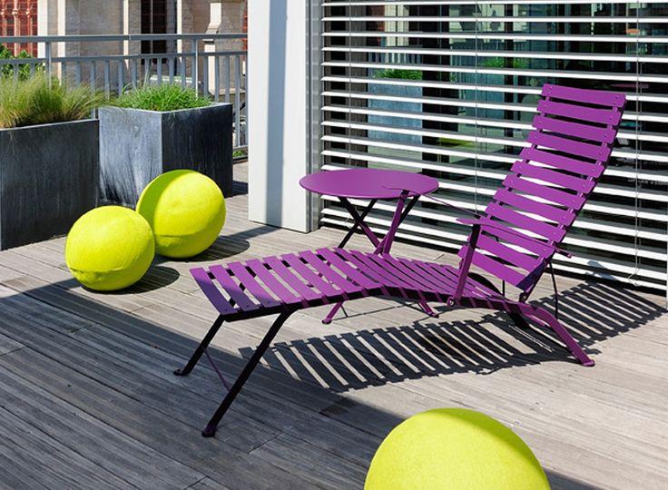 #chaise-longue #violet #boule #terrasse