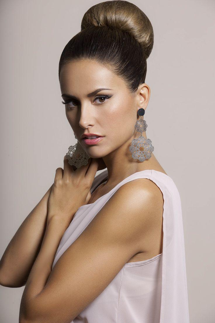 Michela Coppa, testimonial per i #bijoux della linea #ViaFrancesca #FW13-14 di Barbieri Creazioni
