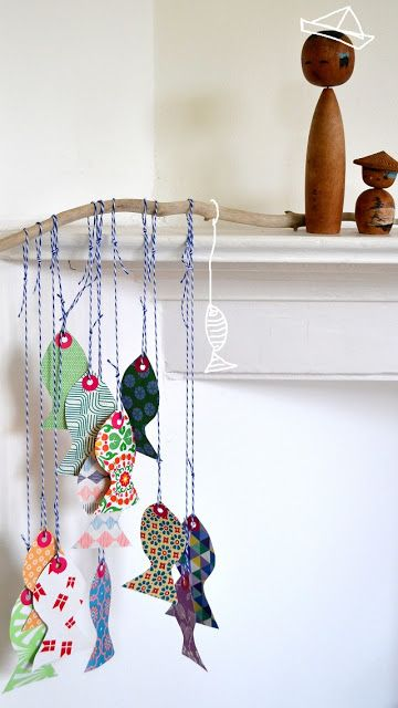 DIY paper fish | so many great ideas on this blog for fun, colorful things.