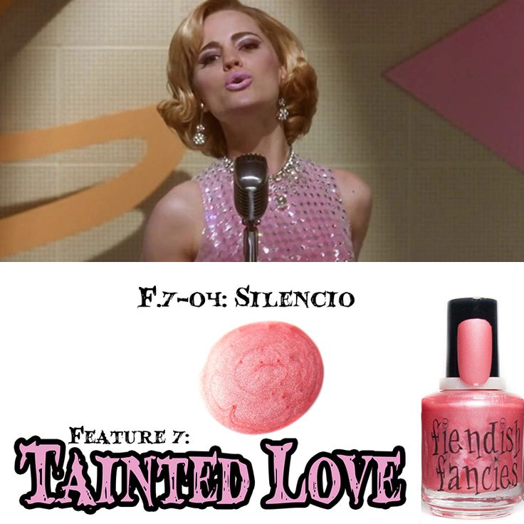 F.7-04: Silencio  Matte Tulip Pink inspired by infatuation with mysterious starlets. Opaque in 2 coats. : The Tainted Love Collection ~ Inspired by movies about obsession and love gone wrong. Coming February 2016