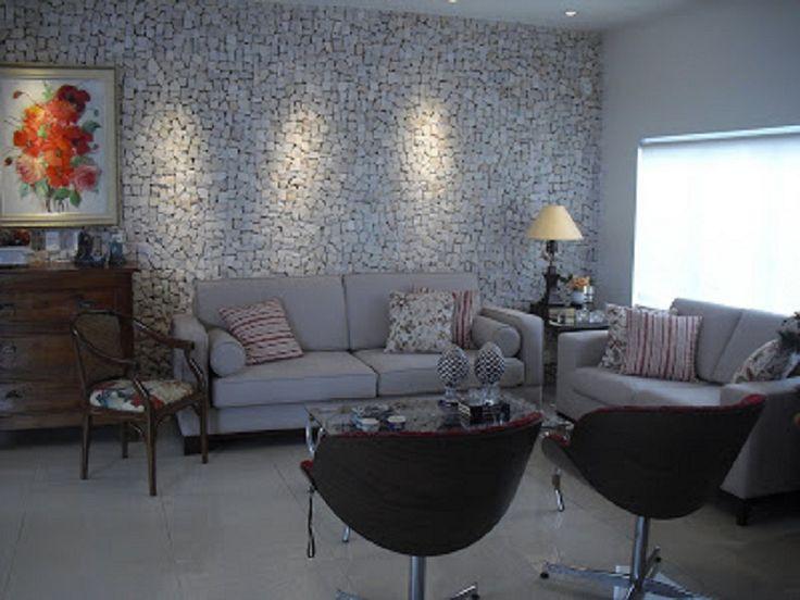 Decoração de parede com pedras portuguesa. http://www.niropedrasdecorativas.com.br/#